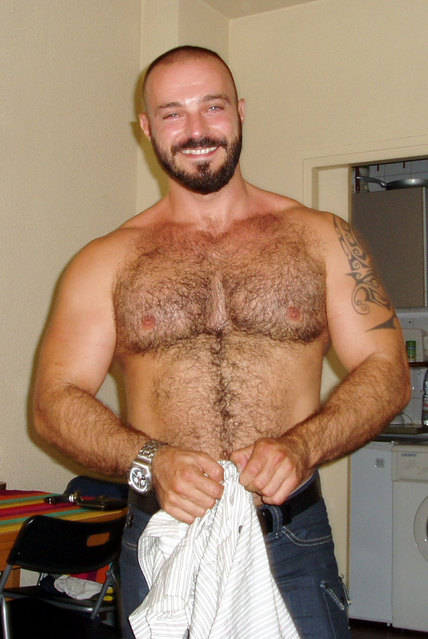 Italian men with hairy chest